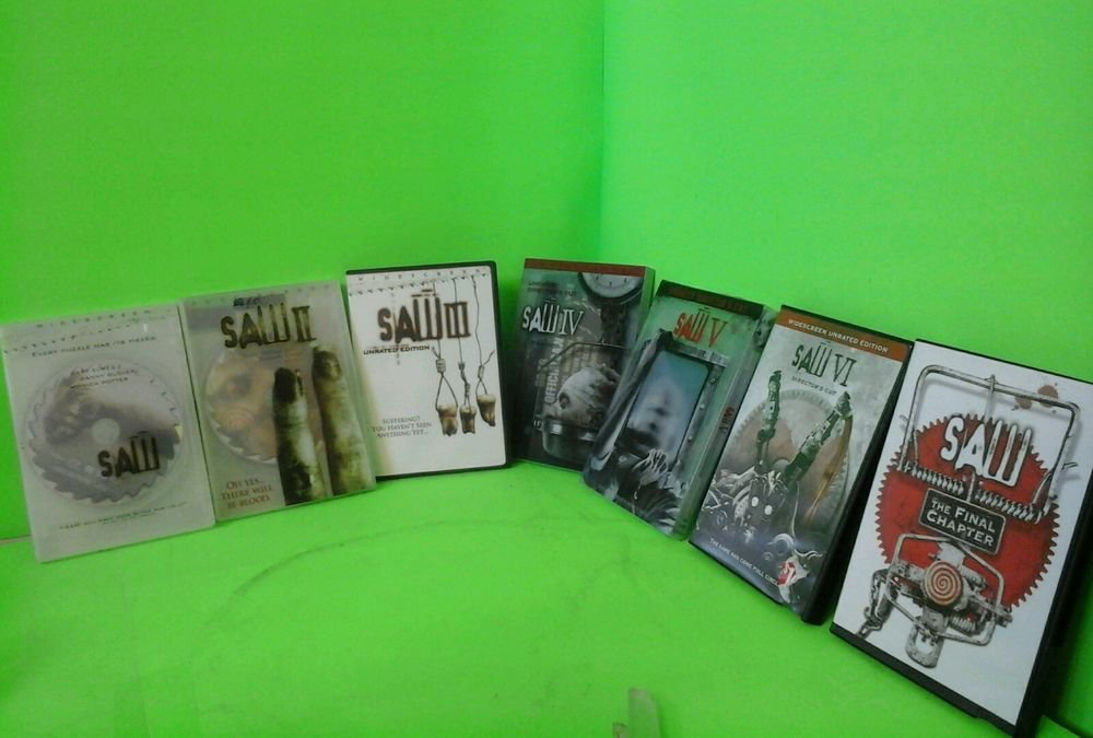 SAW movies 1-2-3-4-6 -7 dvd collection set bundle fast free priority shipping