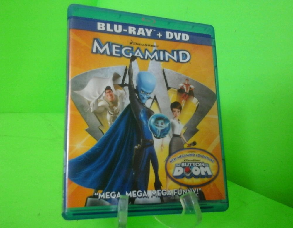 Megamind (Blu-ray/DVD, 2011, 2-Disc Set) FAST FREE SHIPPING
