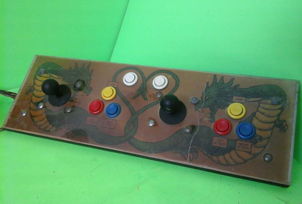 Taito Double Dragon 2 Arcade Game Control Panel. Complete