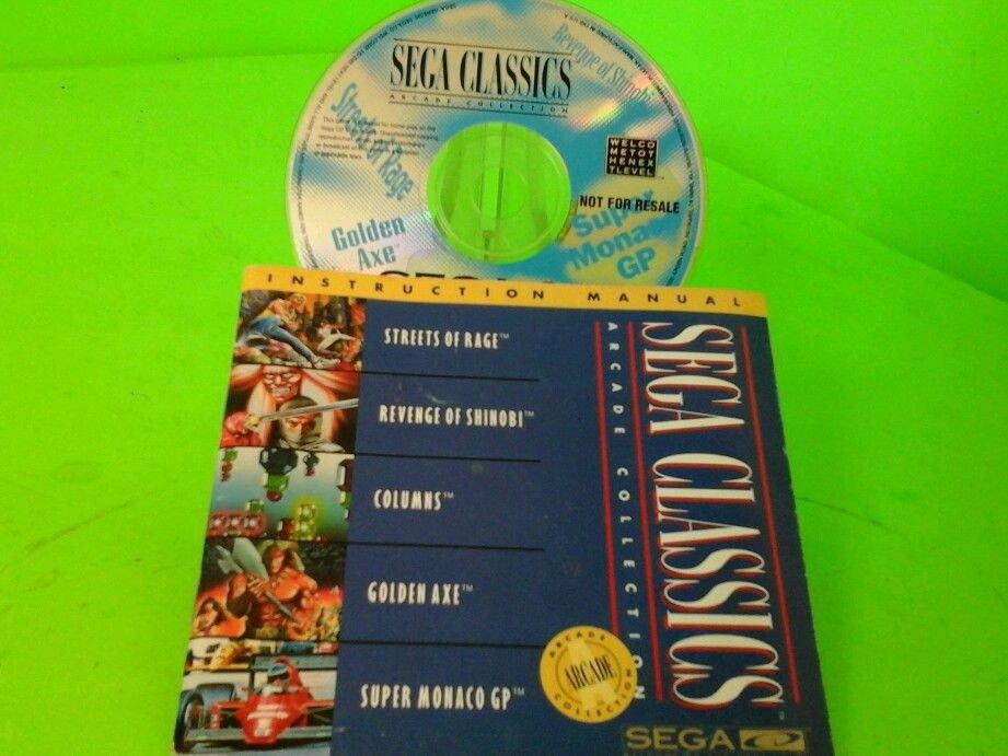 Sega CD Sega Classics Arcade Collection 4-in-1 Blue Disc NTSC Disc & book only