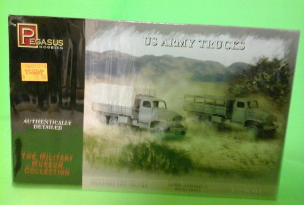 Pegasus 7651 WWII US Army Trucks & Driver Figures Set of Two 1/72 Scale Kits NEW