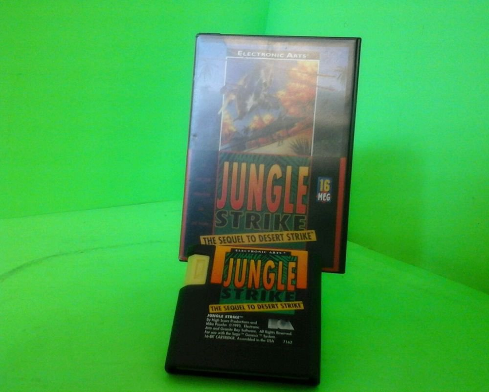 Jungle Strike (Sega Genesis, 1993). Cleaned and Tested! FAST Free Shipping!