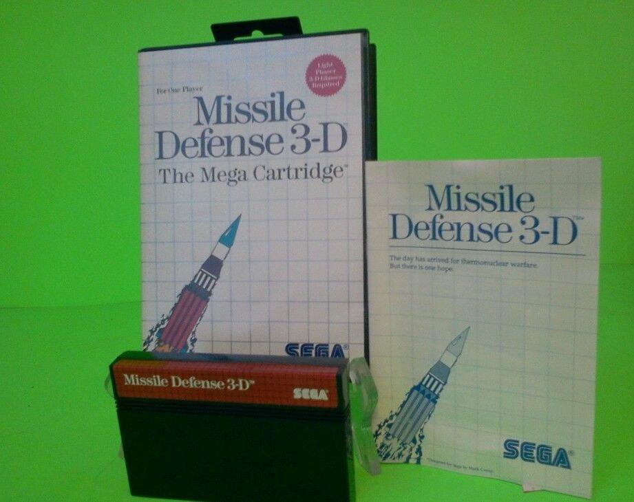 Missile Defense 3-D for Sega Master System NICE Complete Game Cart 3d FREE S/H