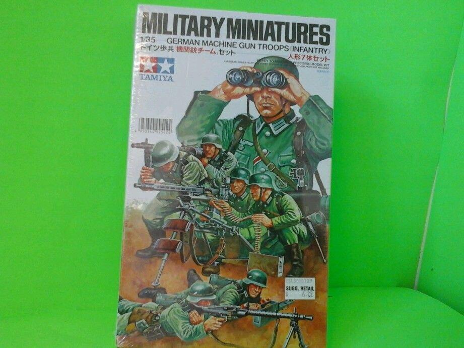 Tamiya Military Miniatures German Machine Gun Troops Set Model Kit #38 1:35 NEW