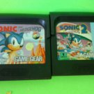 Sonic the Hedgehog 1 & 2  (Sega Game Gear) bundle FAST FREE SHIPPING