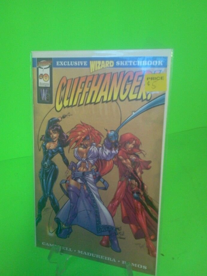 Wildstorm Cliffhanger #0 Exclusive Wizard Sketchbook Red Monika Danger Girl 1997