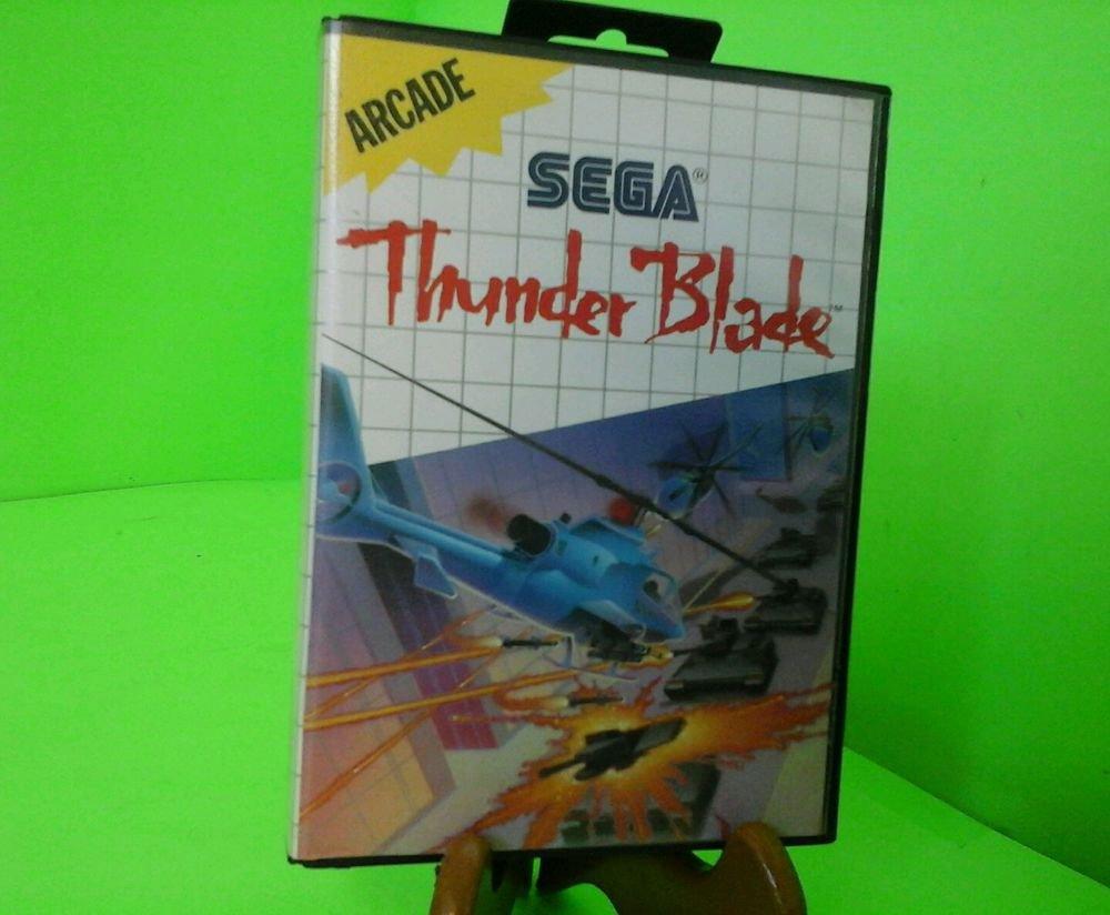 Thunder Blade COMPLETE IN BOX CIB (Sega Master System SMS) FREE SHIPPING