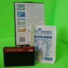 California Games  (Sega Master System, 1989) w/ Manual game WORKS!