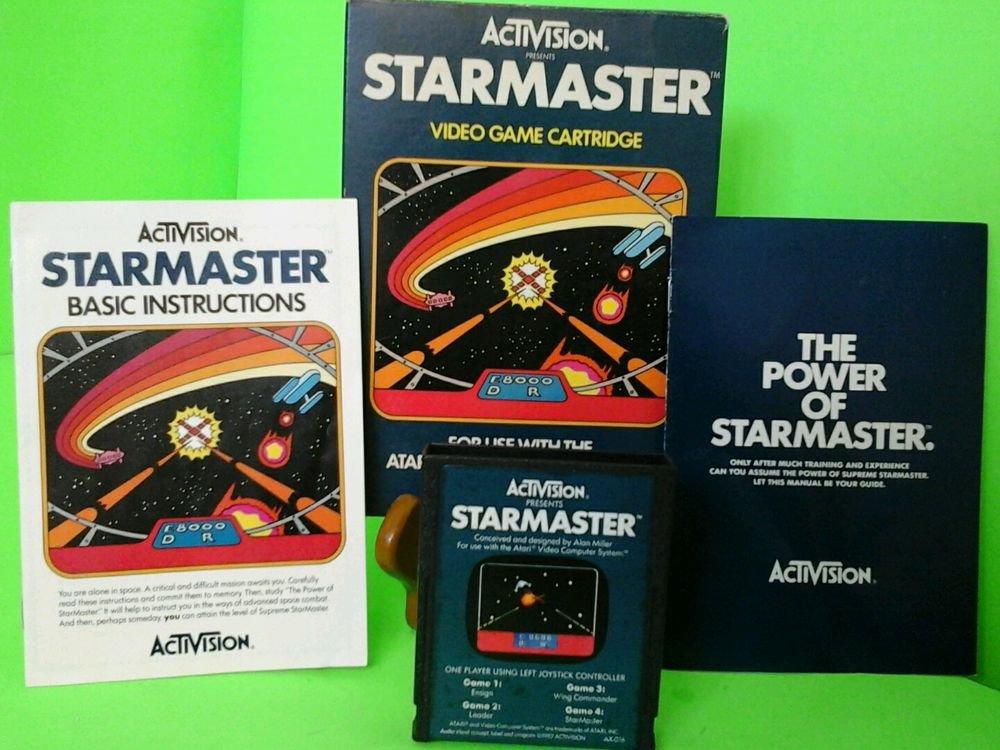Atari 2600 Starmaster CIB cart instruction book box Complete  FAST FREE SHIPPING