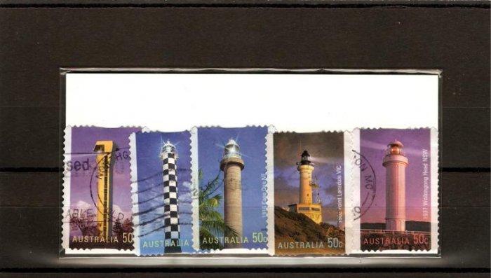 recent 2006 Australia lighthouses stamp set
