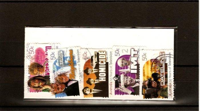 recent 2006 50 years of tv Australia stamp set.
