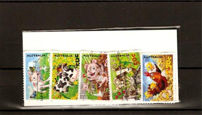 recent Australia 2005 down on the farm stamp set