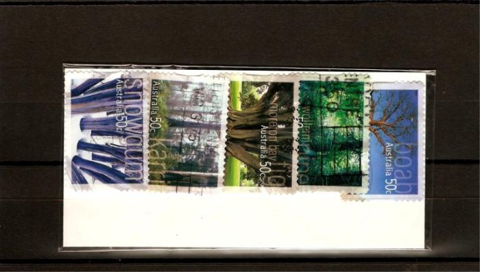 recent Australia 2005 native trees stamp set