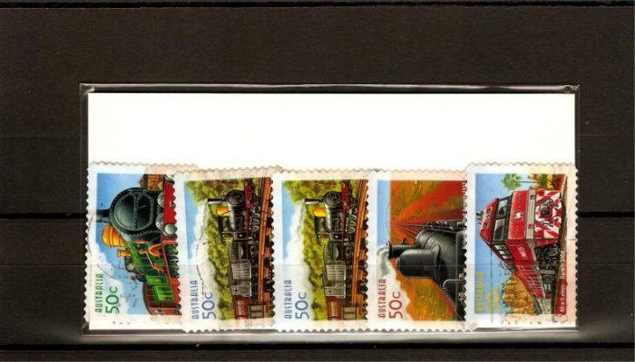 recent Australia 2004 trains stamp set