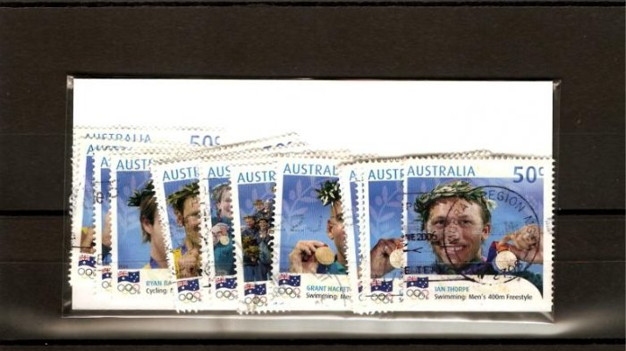 recent Australia 2004 olympic games stamp set of 17