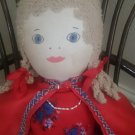 Vintage rag doll, beautiful rare rag doll from the 1940's