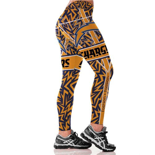 Los Angeles Chargers Womens Leggings Fitness Gym 2017