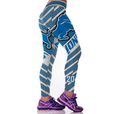 Detroit Lions  Barry SandersWomens Leggings Fitness Gym 2017