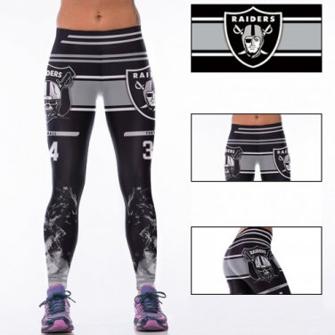 Oakland Raiders Bo JacksonWomens Leggings Fitness Gym 2017