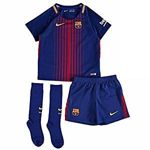 2017-2018 Barcelona Home Nike Baby Kit WITH SOCKS