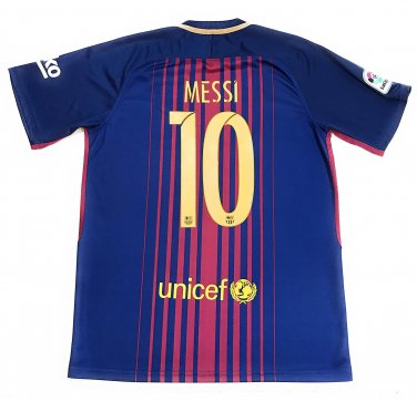 Messi #10 2017-2018 NEW FC Barcelona Home Jersey Men/Adult