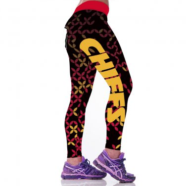 2017  Kansas City Chiefs  Print Women Leggings Fitness Sports Gym