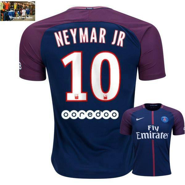 Neymar Jr. #10 Paris Saint-Germain Home Jersey 2017-18