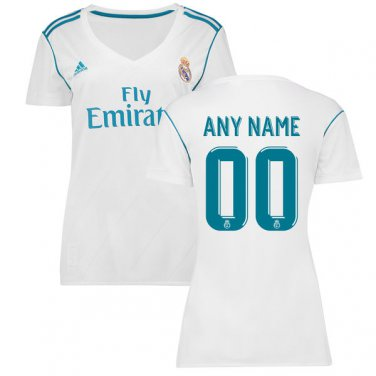 Real Madrid 2017/18 Home  Custom Jersey