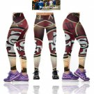 2017 Season San Francisco 49ers Womens Leggings Fitness