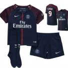 Cavani # 9  2017-18 PSG  Home Shirt - Kids