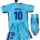 Lionel Messi #10 Barcelona Away Jersey for Kids 2017-18