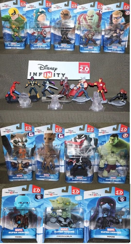 Disney Infinity 2.0 Marvel Heroes Guardians Avengers Spider-Man Figures YOU PICK