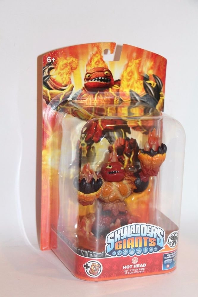 Skylanders Giants HOT HEAD New Loose Cardboard Backer SHIPS BOXED Same Day