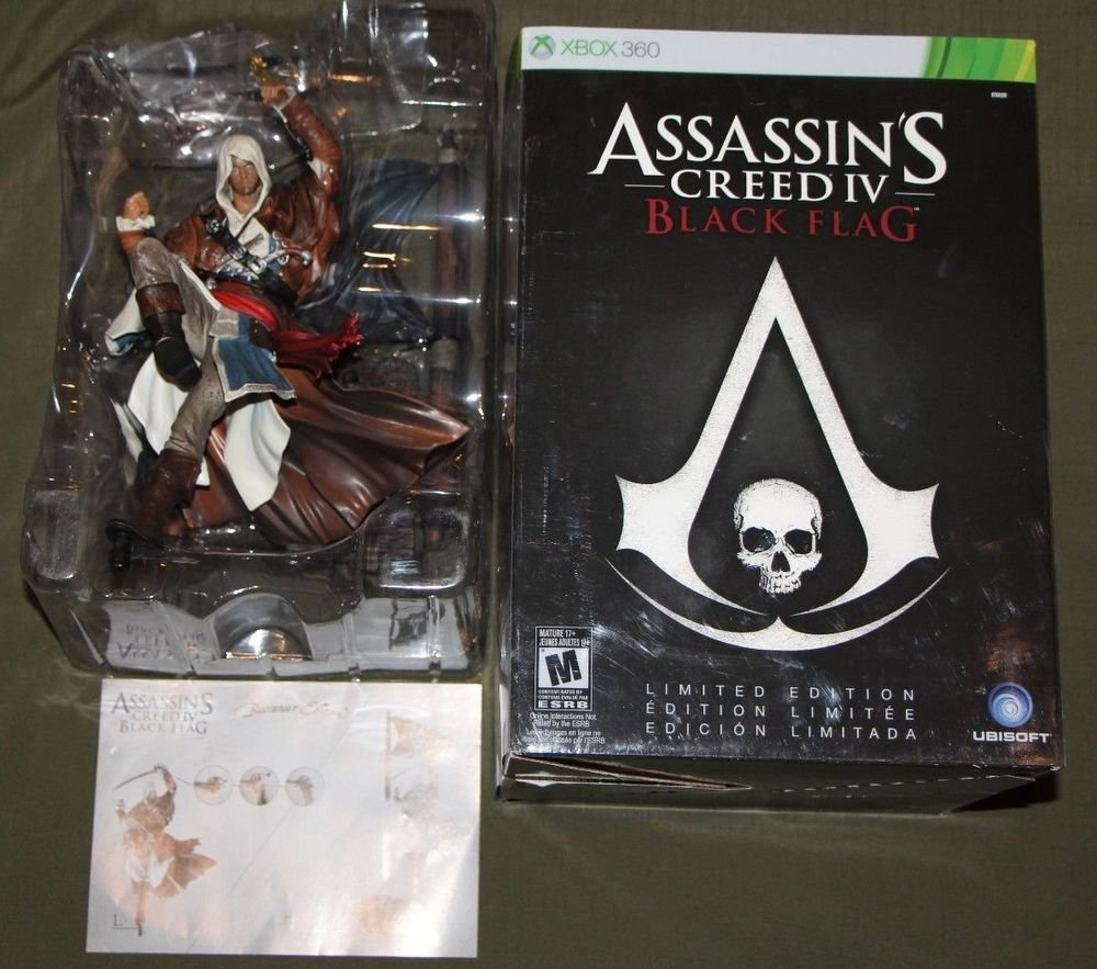 "Assassins Creed Black Flag IV 4 LIMITED EDITION 18"" EDWARD KENWAY FIGURE STATUE"
