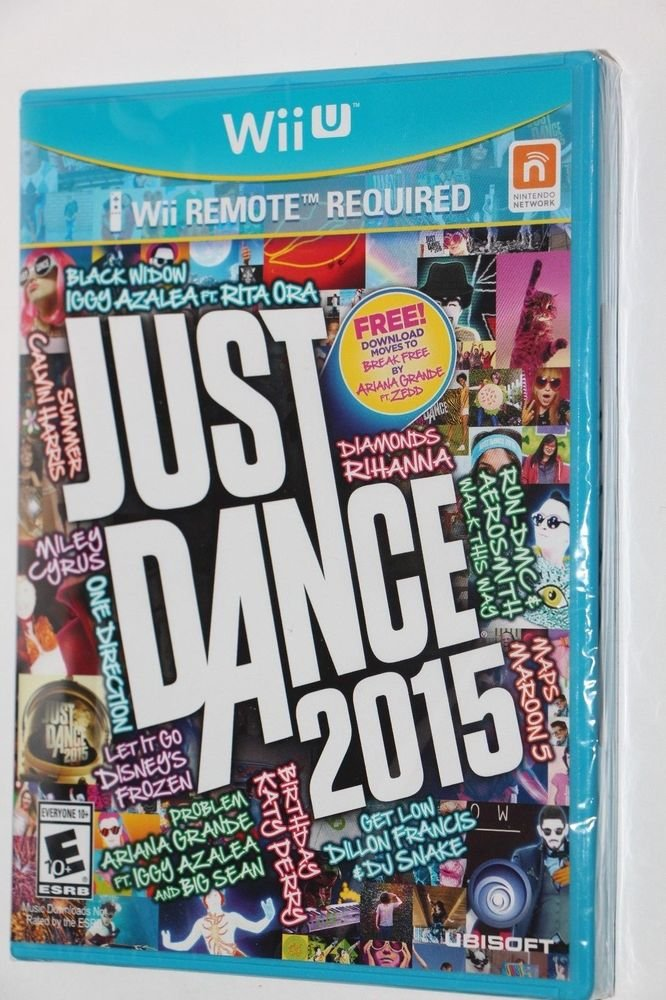Nintendo Wii U JUST DANCE 2015 Factory Sealed NEW Ship Same Day