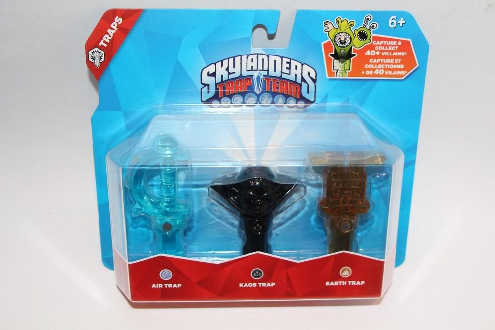 Skylanders Trap Team 3 pack Traps Set Kaos Earth Handstand Air Sword NEW