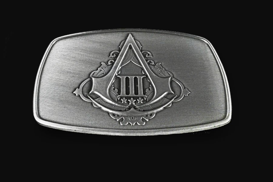 Assassin's Creed III 3 COLLECTORS LIMITED EDITION ASSASSIN BELT BUCKLE NEW