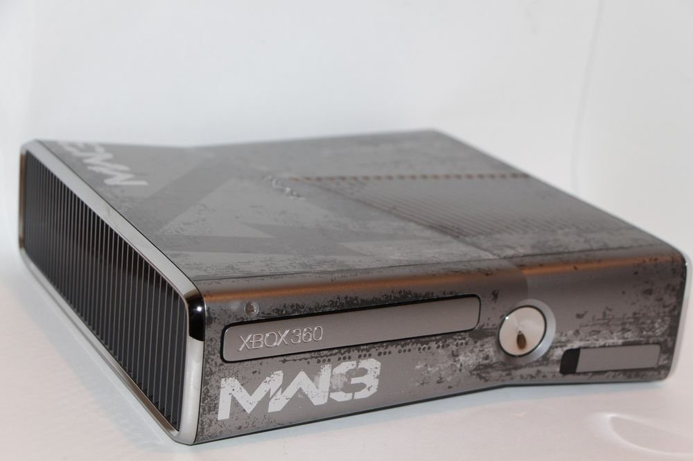 Microsoft Xbox 360 S MW3 Modern Warfare 3 Limited EDITION CONSOLE ONLY 8/10 Cond