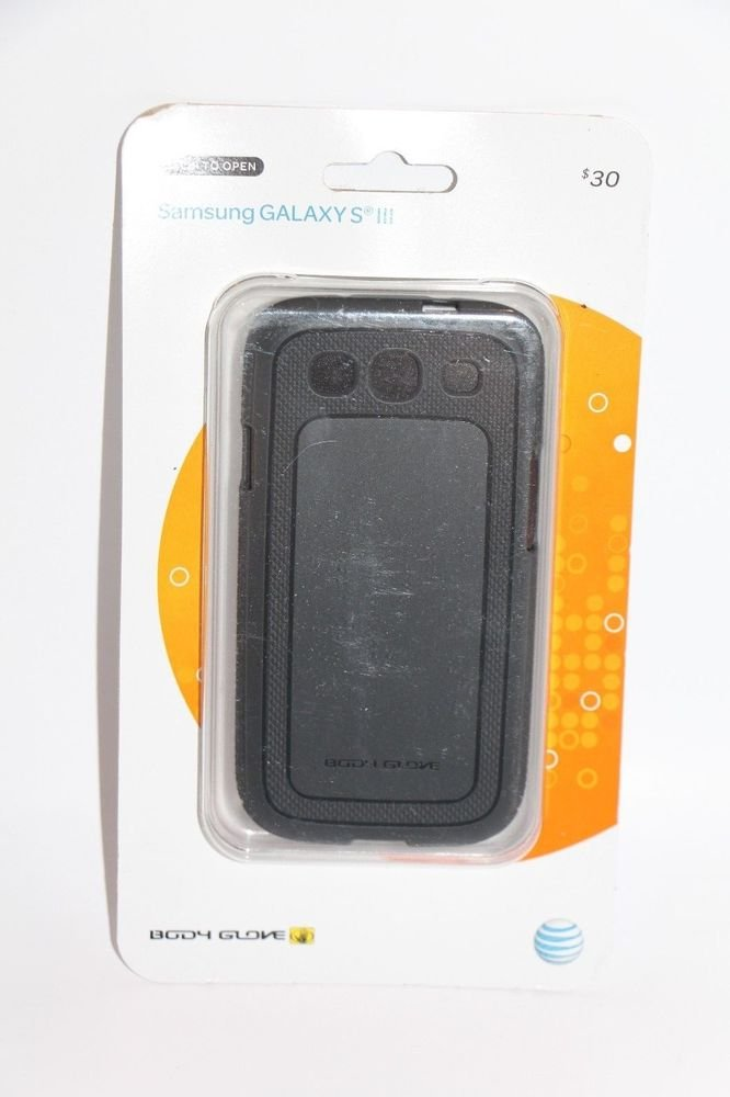 Body Glove Dimensions Gray  Antimicrobial Gel Case Samsung Galaxy S III 3 NEW