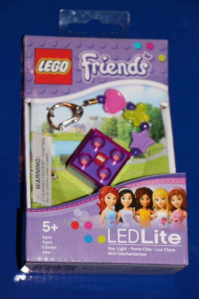 Lego FRIENDS BRICK LED KEY LIGHT Key Chain PURPLE LGL-KE3 NEW! Great Gift!