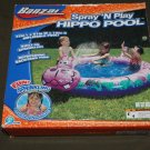 Banzia Spray n Play Hippo Inflatable Kids Pool with Sprinkler NEW Ships Same Day