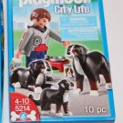 Playmobil City Life 5214 Guy with Saint Bernard Dogs  NEW Ship Same Day