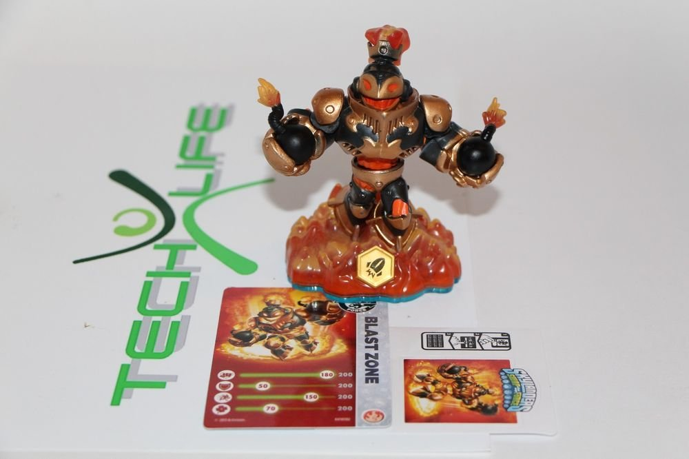 Skylanders Swap Force BLAST ZONE loose figure W/ Card+code+Sticker NEW