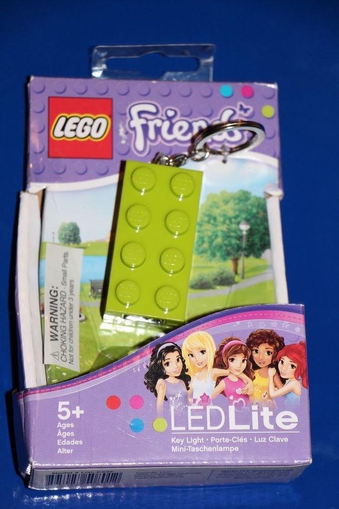 Lego FRIENDS GREEN 2 X 4 Brick LED KEY LIGHT Key Chain LGL-KE5F NEW! Great GIFT