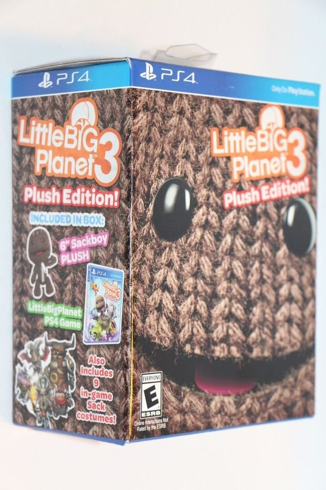 Little Big Planet 3 Plush Day One Edition Playstation 4 PS4 NEW Factory Sealed.