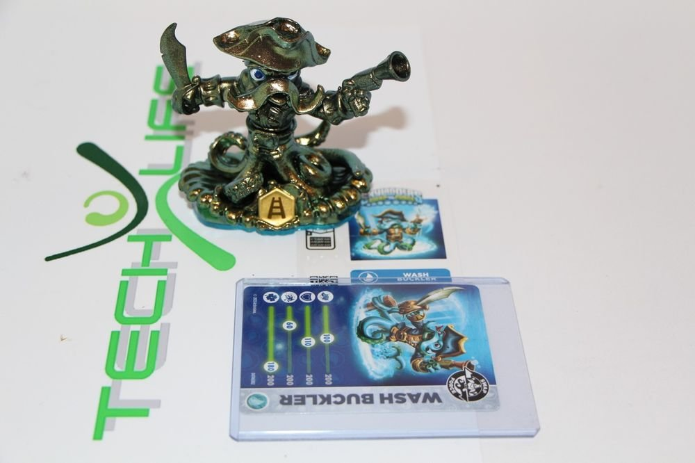 Skylanders Swap Force  Gold Green Color Variant Wash Buckler W/Card+code+Sticker