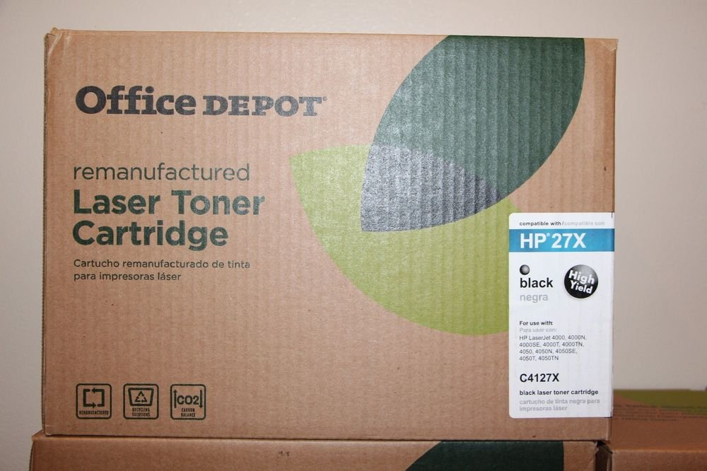 Office Depot Remanufactured laser Toner Cartridge HP 27X Black High Yield C4127X