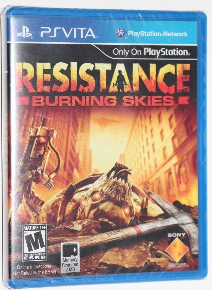 Playstation VITA PS VITA Resistance: Burning Skies NEW SEALED SHIPS SAME DAY
