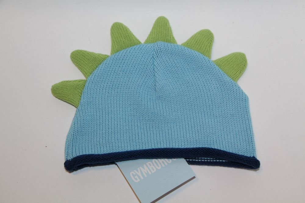Genuine Gymboree Kids Baby Newborn Dinosaur Winter Hat Green/Blue NEW WIth Tags