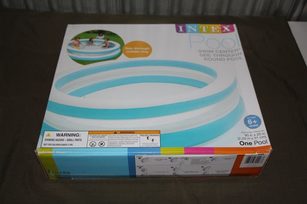 INTEX 90 Inch Round Inflatable Kids Pool NEW In BOX SHIPS SAME DAY